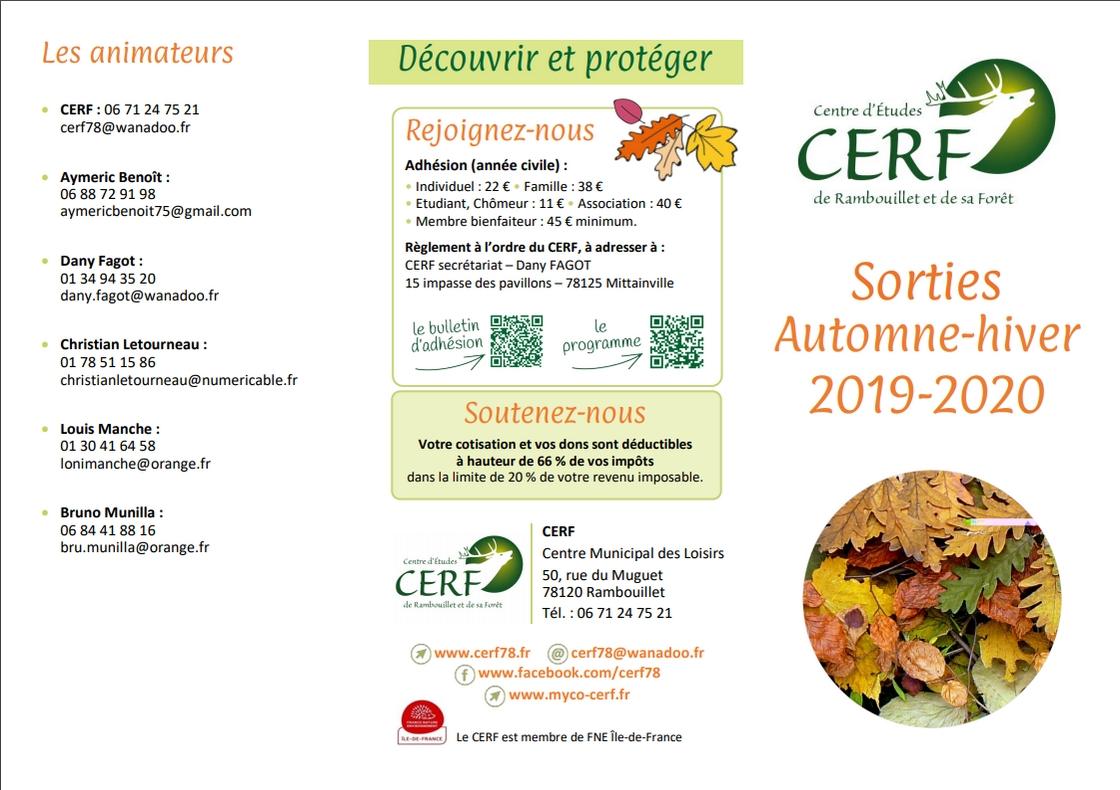 Sorties Automne-Hiver 2019 / 2020